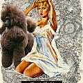 Poodle Art - Una Parisienne Movie Poster by Sandra Sij