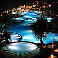 Pool At Night by Shane Bechler