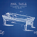 Pool Table Patent From 1901 - Blueprint by Aged Pixel