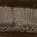 Pool Tables And Accessories - Vintage Neon Sign by Steven Milner