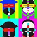 Pop Art People 4 2 by Edward Fielding