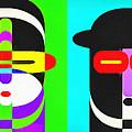 Pop Art People 4 Row by Edward Fielding