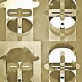 Pop Art People Monochromatic Four by Edward Fielding