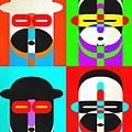 Pop Art People Quattro by Edward Fielding