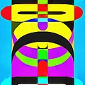 Pop Art People Totem 7 by Edward Fielding