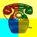 Pop Art Vintage Telephone 1 by Edward Fielding