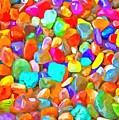 Pop Rocks Abstract by Edward Fielding
