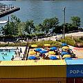 Pop Up Pool In Brooklyn Bridge Park by Diane Lent
