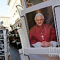 Pope Benedict Xvi. Postcard In A Rack. Rome. Lazio. Italy. Europe by Bernard Jaubert