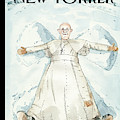 Pope Francis Makes A Snow Angel by Barry Blitt