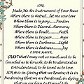 Pope Francis St. Francis Simple Prayer by Desiderata Gallery