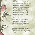 Pope Francis St. Francis Simple Prayerbutterfly On Bamboo by Desiderata Gallery