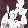 St. John Paul II by Darcie Cristello