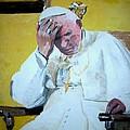 Pope Praying by Ruben Barbosa
