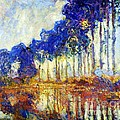 Poplars On River Epte by Pg Reproductions