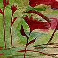 Poppies Abstract 2 by Barbara Griffin