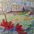 Poppies And Ruins by Esther Newman-Cohen