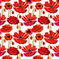 Poppies Field. Seamless Vector Pattern by Svetlana Kononova
