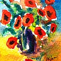 Poppies In A Vase by Cristina Stefan