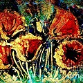 Poppies In Gold by Zaira Dzhaubaeva