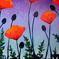 Poppies In The Sky II by John  Nolan