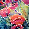 Poppies That Dance Original  by Therese Fowler-Bailey