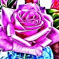 Poppin Purple Rose by Catherine Lott