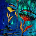 Poppy At Night Abstract 1 by Barbara Griffin