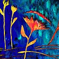 Poppy At Night Abstract 2 by Barbara Griffin