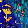 Poppy At Night Abstract 3  by Barbara Griffin