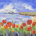 Poppy Beach by Annamarie Lombardo