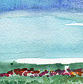 Poppy Field- Landscape Painting by Linda Woods