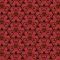 Poppy Sierpinski Triangle Fractal by Judi Suni Hall