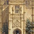 Porch At Montacute, 1842 by John Nash