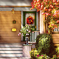 Porch - Cranford Nj - Simply Pink by Mike Savad