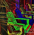 Neon Porch Perches by Robert McCubbin