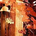Porch Post Berries Rust by Ellen Cannon