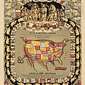 Pork Map Of The United States From 1876 by Blue Monocle