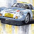 Porsche 550 Coupe 154 Carrera Panamericana 1953 by Yuriy  Shevchuk