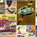 Porsche Racing Posters Collage by Don Struke