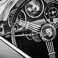 Porsche Steering Wheel Emblem -2043bw by Jill Reger