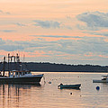 Port Clyde Maine Fishing Boats At Sunset by Keith Webber Jr