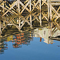 Port Clyde Maine Lobster Traps Reflecting In Water by Keith Webber Jr