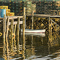 Port Clyde Maine Small Boat And Harbor by Keith Webber Jr