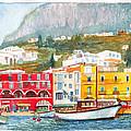 Port Of Capri by Dai Wynn