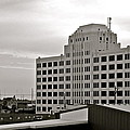 Port Of Galveston Building In B And W by Kirsten Giving