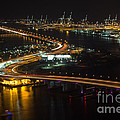 Port Of Miami Macarthur Causeway by Rene Triay Photography