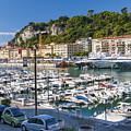 Port Of Nice In France by Elena Elisseeva