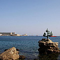 Port Of The Myloi And Dolphins - Rhodos Citys by Christiane Schulze Art And Photography