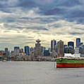 Port Of Vancouver Bc Panorama by Jit Lim